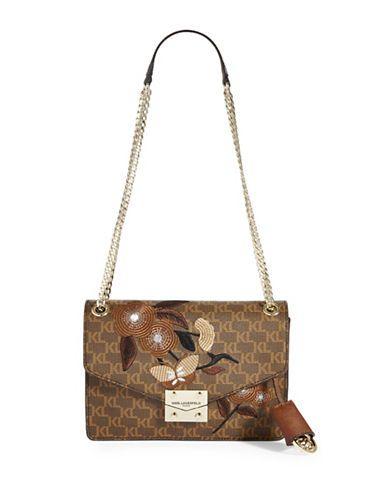 842511ec5796 Karl Lagerfeld Paris Corrine Floral Monogram Shoulder Bag | My ...