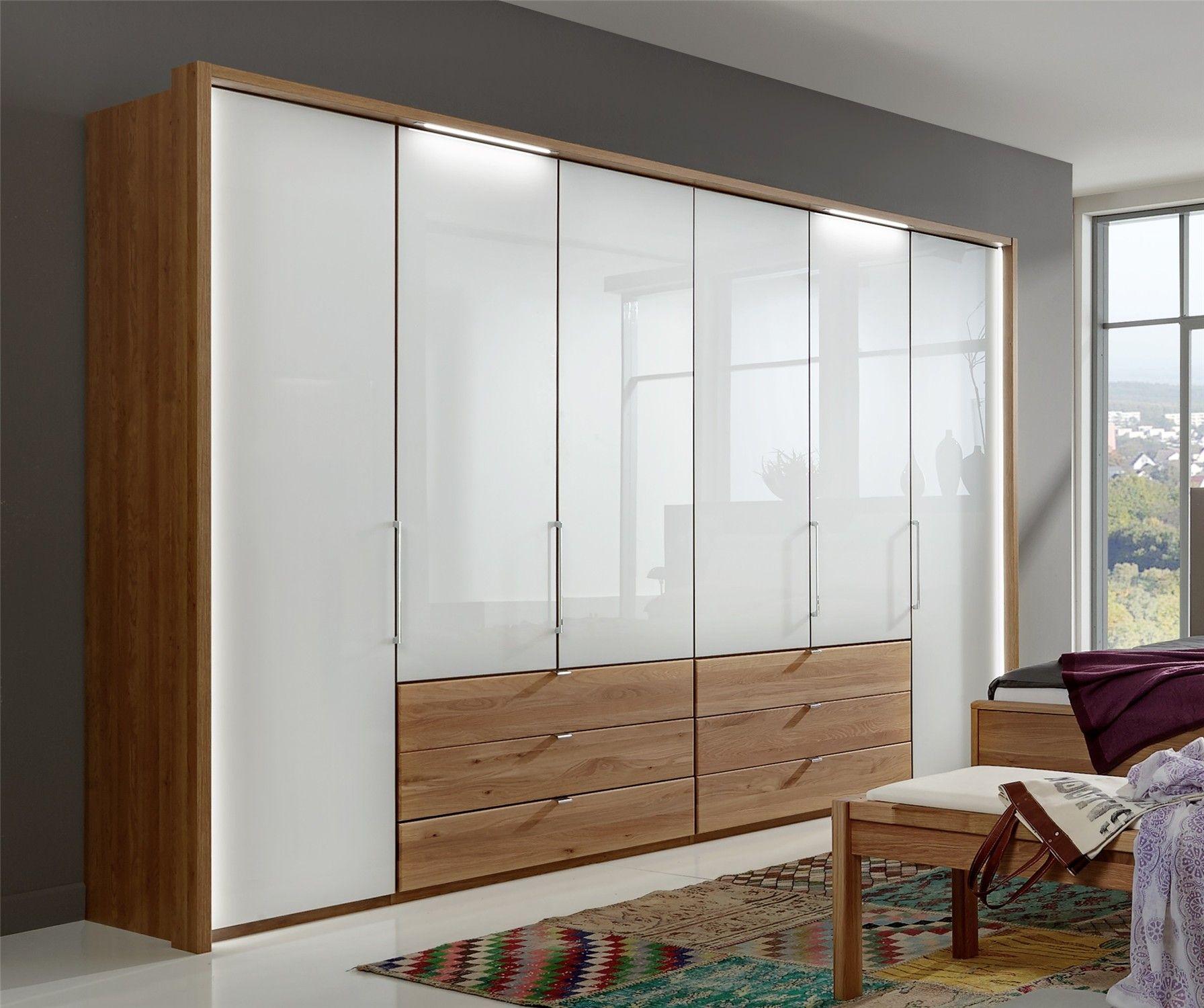 . Modern Wardrobes   Stylform Saturn   Semi Solid Oak   Glass Bi fold