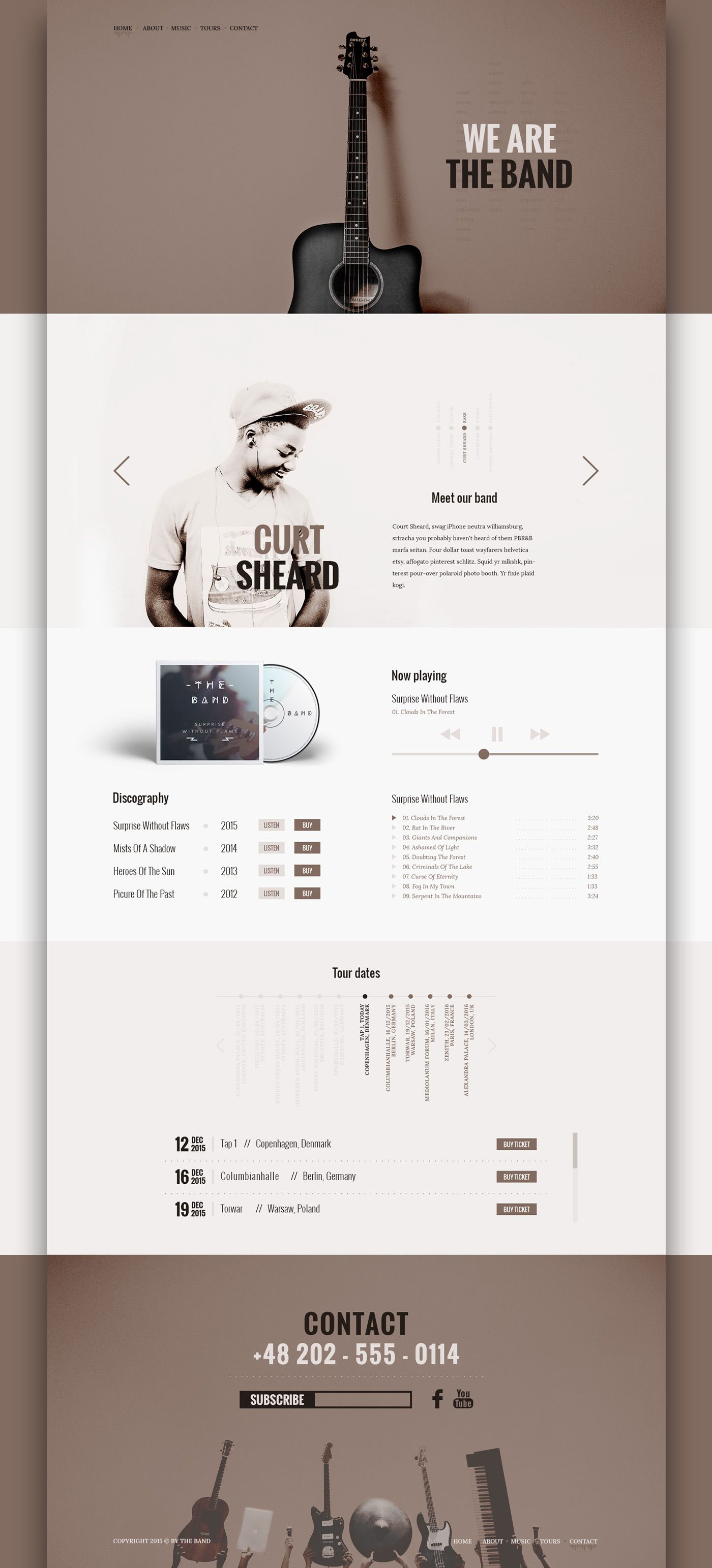 The band free psd template for music related websites on behance the band free psd template for music related websites on behance pronofoot35fo Choice Image