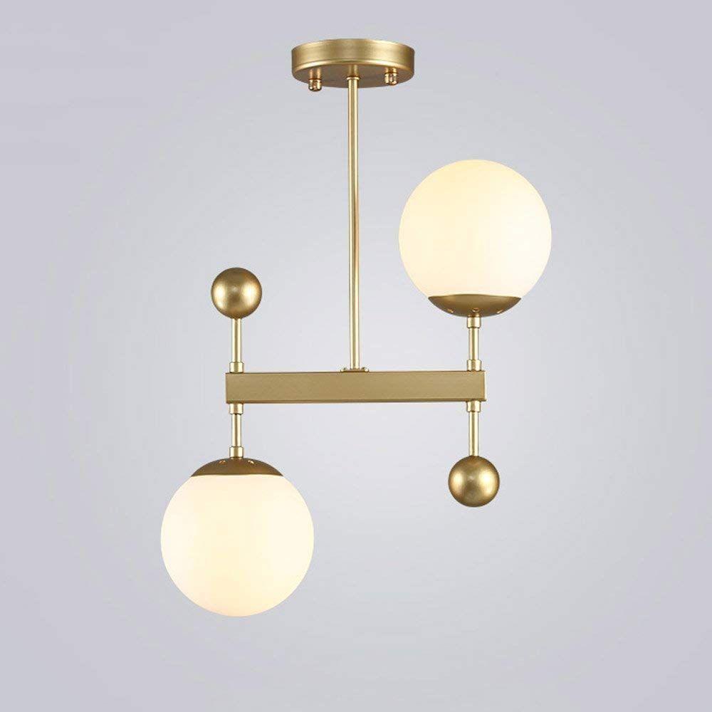 Amazon Com Xajgw 2 Lights Semi Flush Mount Ceiling Light Brushed Brass Mid Century Modern Modern Lighting Chandeliers Cheap Light Fixtures Brass Ceiling Light