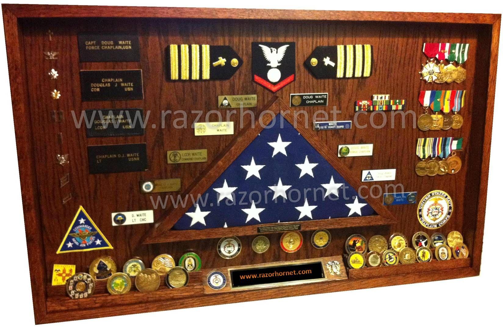 marines shadow box Tiger Wood Military Shadowbox below