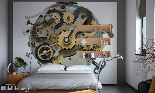 Steampunk Interiors. Its More Than Wall Murals And Wall Decals! #steampunk  Bedroom