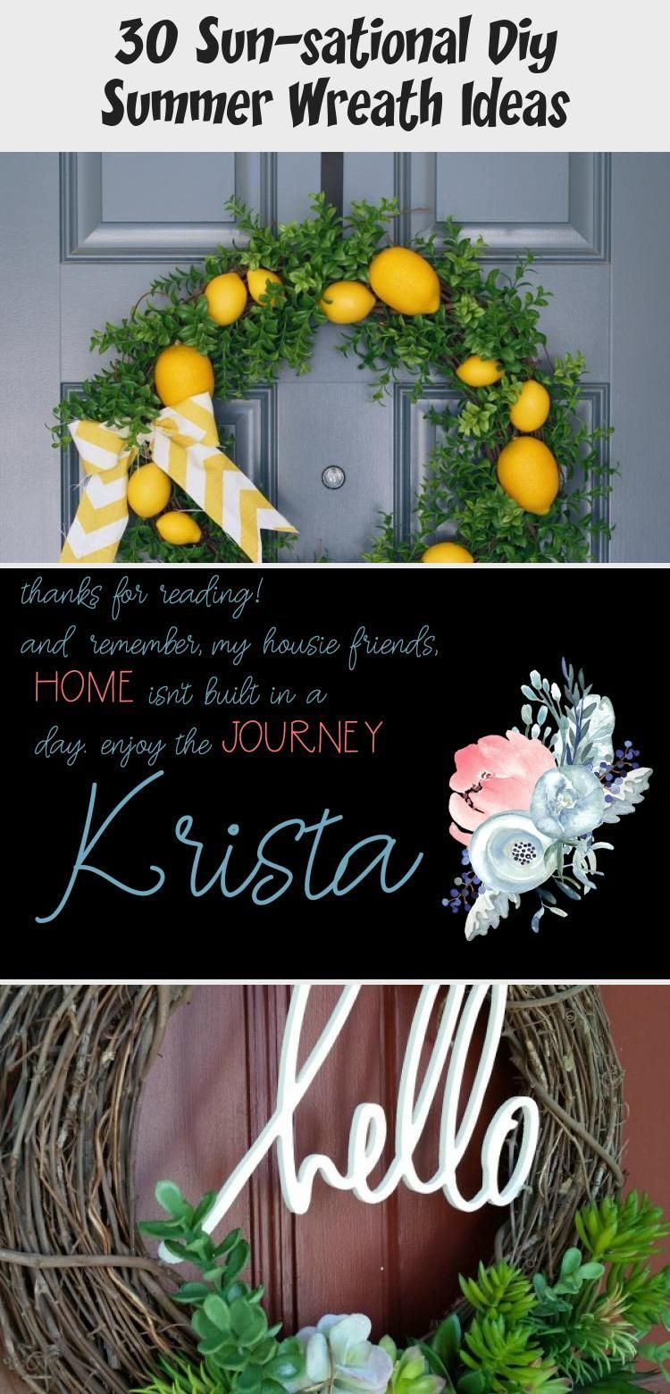 30 Sun-sational DIY Summer Wreath Ideas #Outdoorsummerdecor #summerdecorHouse #s...#diy #ideas #outdoorsummerdecor #summer #summerdecorhouse #sunsational #wreath