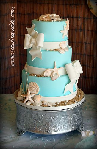 Ocean Themed Wedding Cake | Sea wedding theme, Themed wedding cakes ...