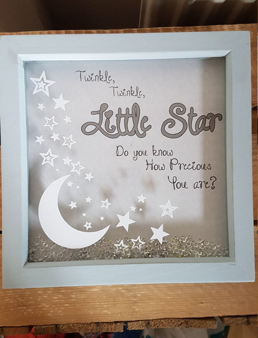 Nursery Decor Light Up Frame Gift Love You To The Moon And Back Baby Boy