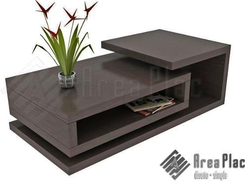 Mesa ratona rectangular wengue mueble dise o minimalista a for Mesa esquinera comedor