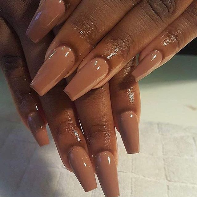 The Easiest Summer Look With Images Brown Nails Nail Colors Square Nails
