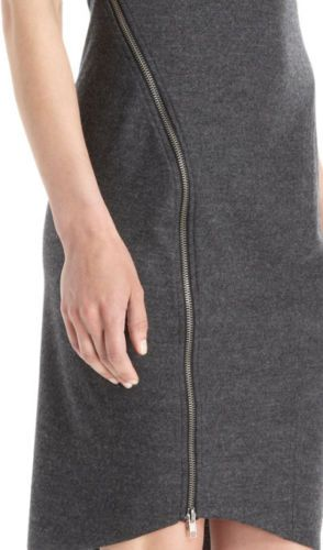 Helmut Lang Sonar Zipper Dress in Gray Size Small | eBay