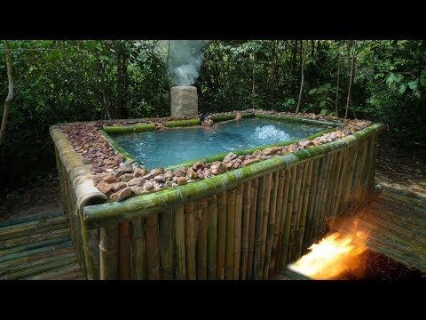 Unbelievable Building The Heated Bamboo Swimming Pool For Winter Youtube Diy Swimming Pool Building A Pool Swimming Pools