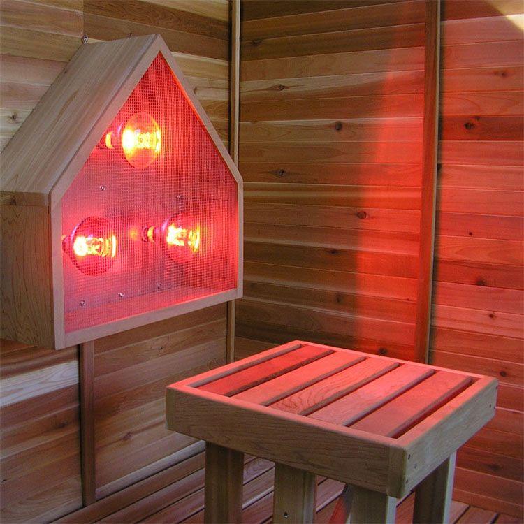 Pin by Joe Miller on Interiors Sauna lights, Sauna, Red