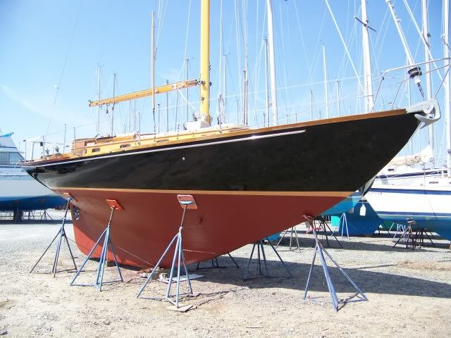 polyurethane topsides paint on a wooden boat saved for color
