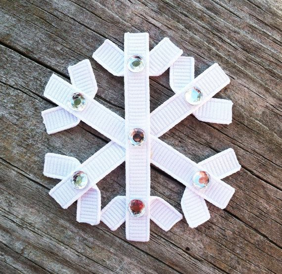 Snowflake Ribbon Sculpture Hair Clip - Toddler Hair Clips - Baby Hair Bows - Girls Hair Accessories..