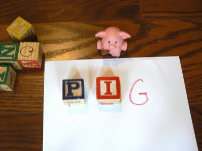 Alphabet Block Spelling
