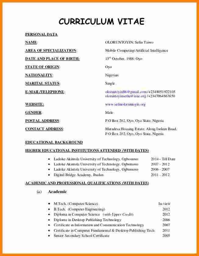 Samples Of Curriculum Vitae For Graduates Current Curriculum Curriculum Vitae Cv Format For Job Cv Format