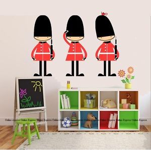 Queens Guard Army Soldier Nursery Wall Stickers Art Childrens