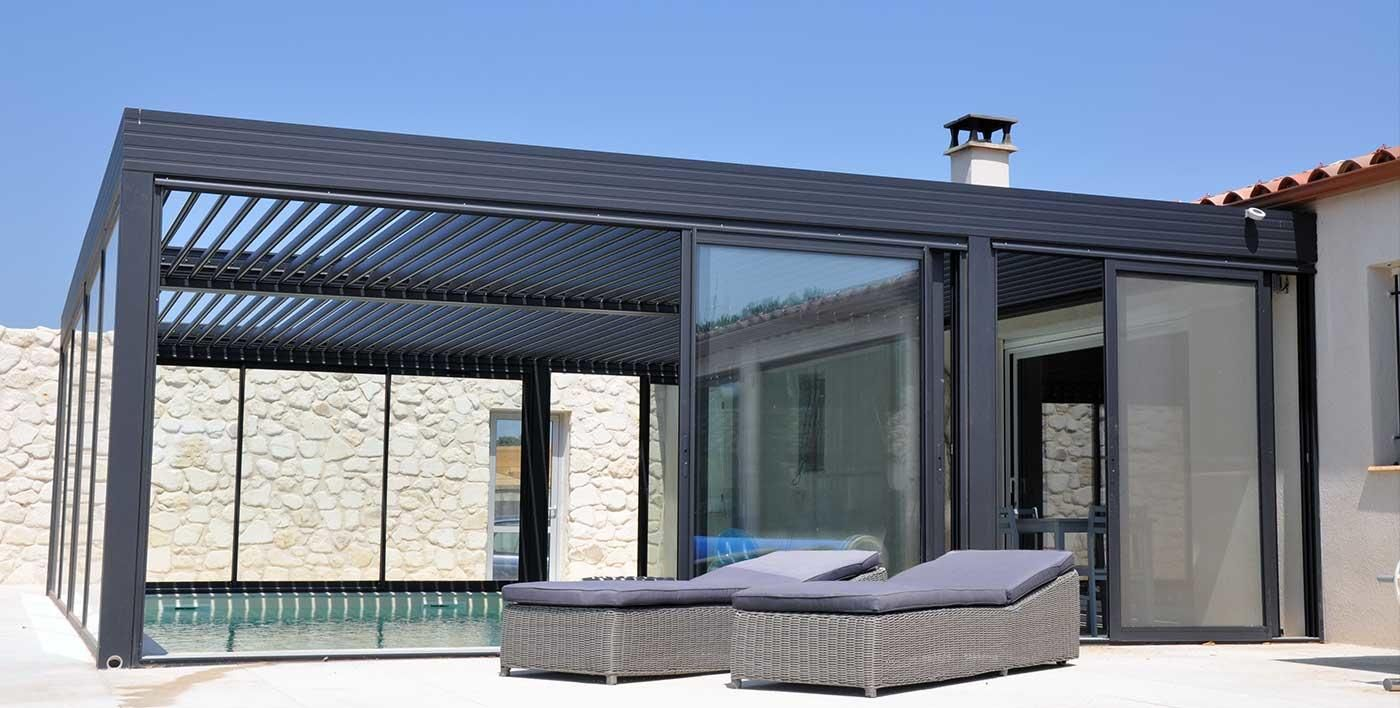pergolas bioclimatique pergola alu bioclimatique wallis outdoor pergola alu menuiserie. Black Bedroom Furniture Sets. Home Design Ideas