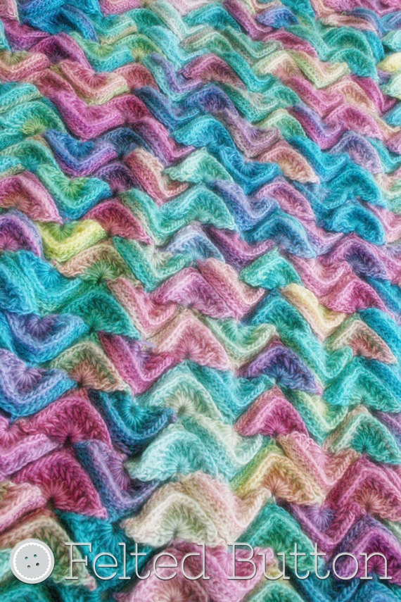 Crochet Pattern, Sea Song Blanket, Baby, Afghan | Deckchen, Muster ...