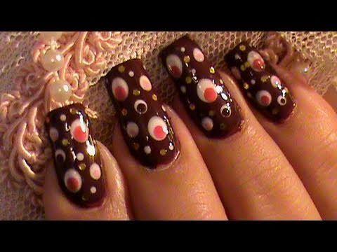 dizzy dots nail art design tutorial  dot nail art designs