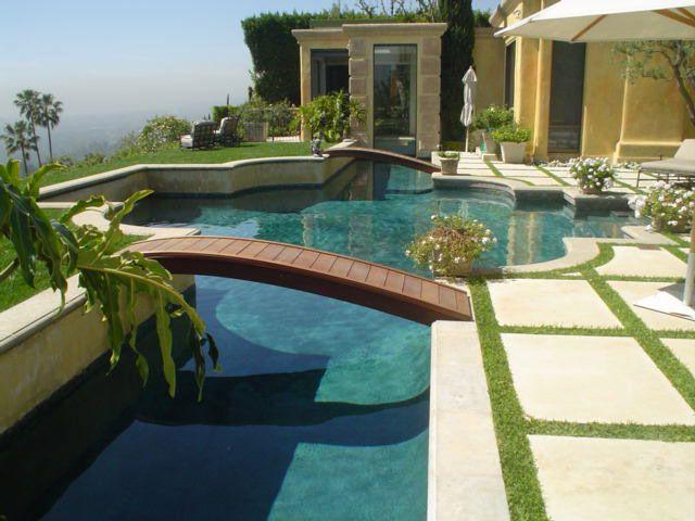 Bridges on Swimming Pool | Swimming pool house, Swimming ...