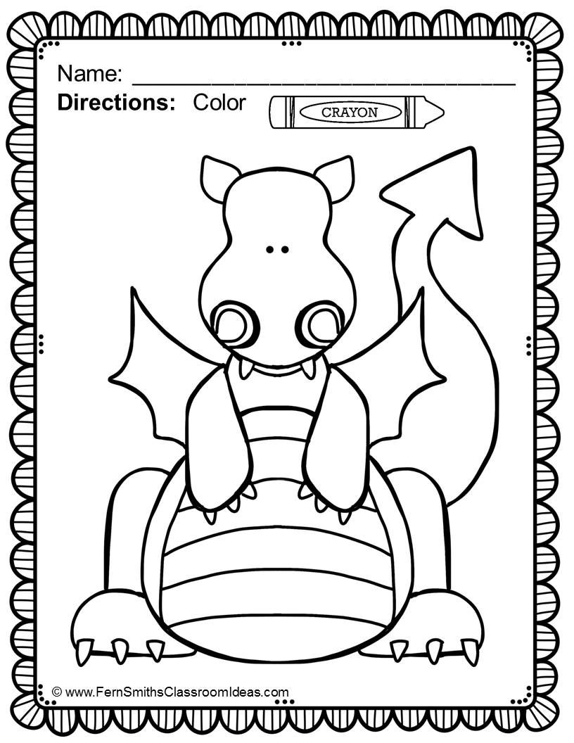 Fairy Tales Coloring Pages 42 Pages Of Fairy Tale Fun Fairy Tale Crafts Dragon Coloring Page Fairy Tales