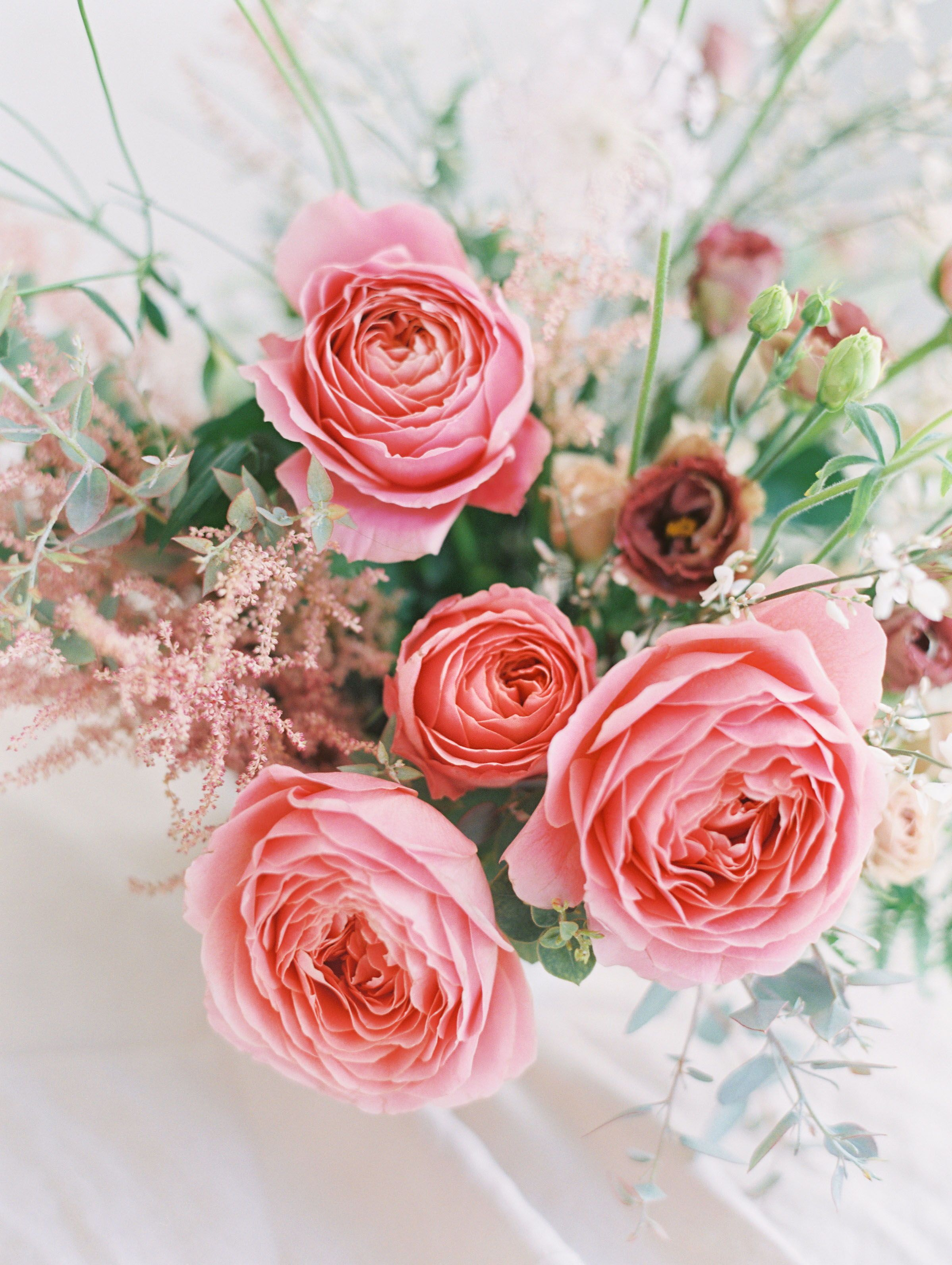 Florist Brand Shoot | tropical, white, pink, red, peach wedding ...