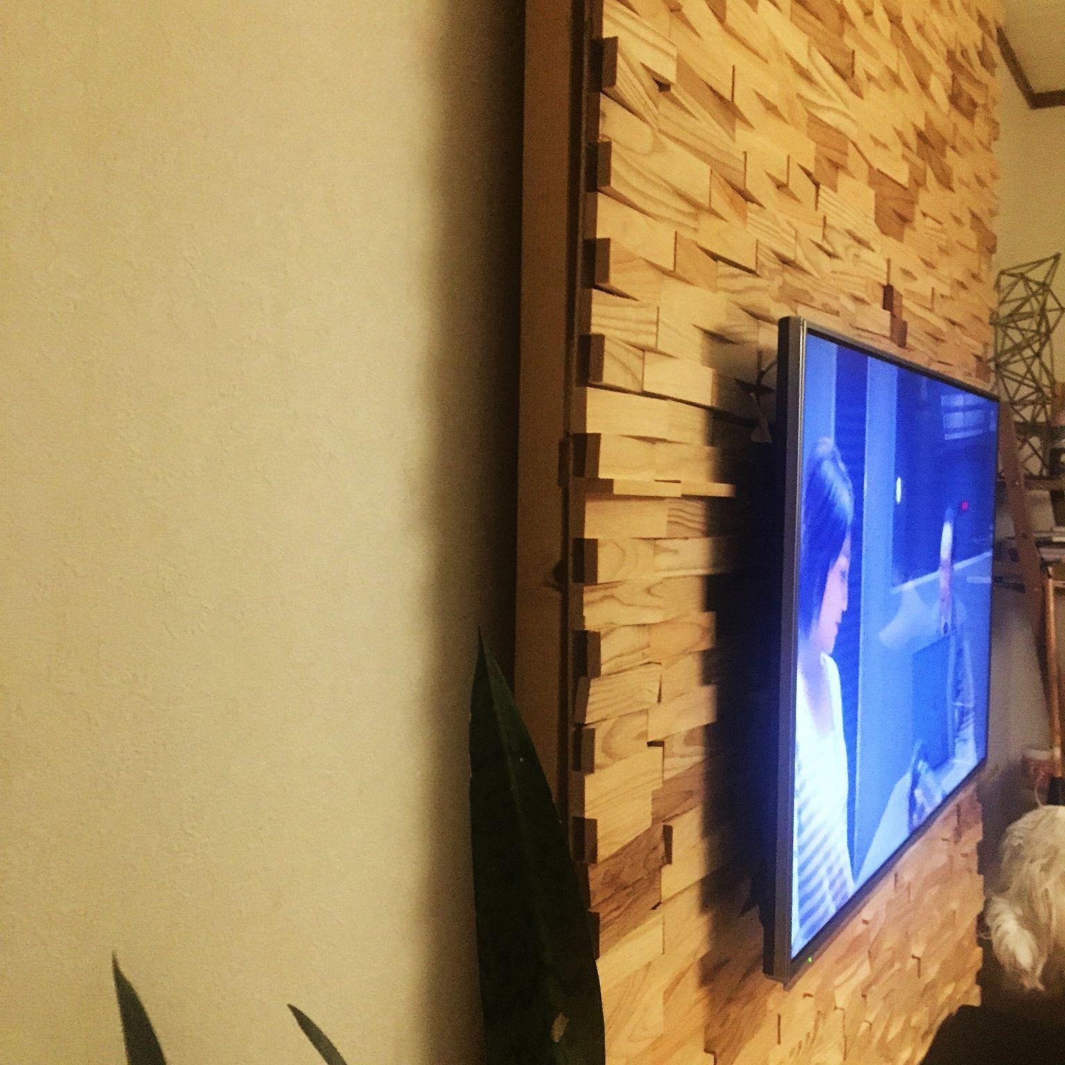 ディアウォールで壁をつくる 壁掛けテレビ 配線隠し Diy ディアウォール On Walls などのインテリア実例 2015 11 29 00 52 17 壁掛けテレビ 配線 壁掛けテレビ ディアウォール