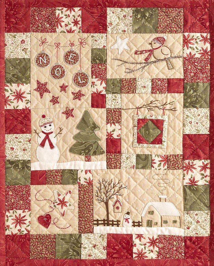 Kerst Quilt Patronen.L Hiver De Marie Quilten Kerst Quilten Quiltpatronen En
