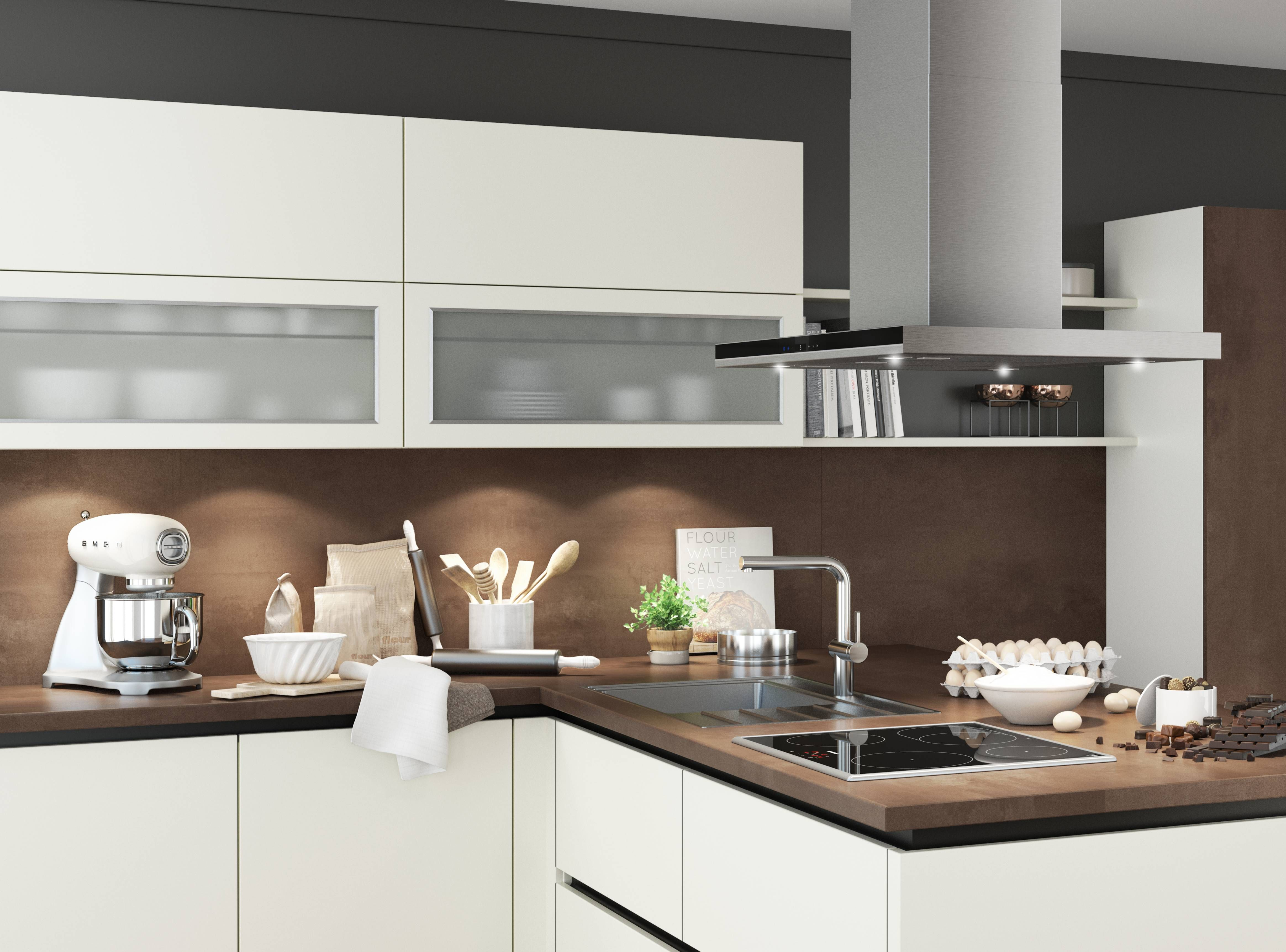 Hier sehen Sie die Bauformat Küche, Küchentyp Baku in der Farbe