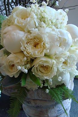 Lily of the Valley Bouquet | Peony And Lily Of The Valley Bouquet