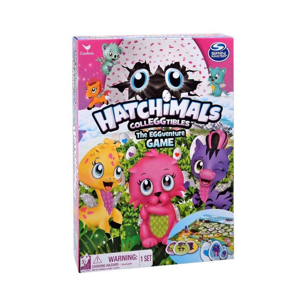 Hatchimals Jumbo Card Game with Colleggtibles 1 Exclusive Figure Egg Kids Toy