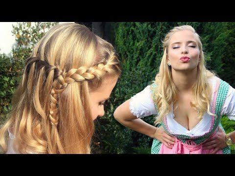 Oktoberfest Frisur Makeup Dirndl Perfekter Wiesn Look