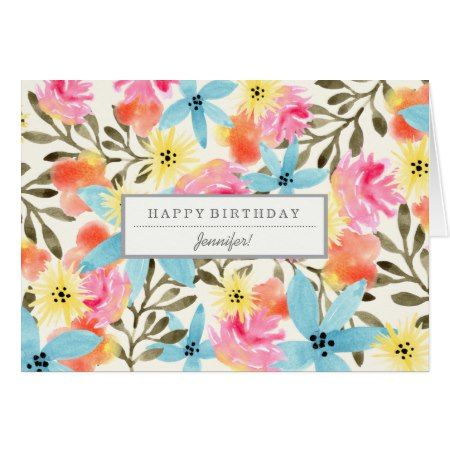 Paradise Flowers Custom Birthday Card Tap To Personalize And Get