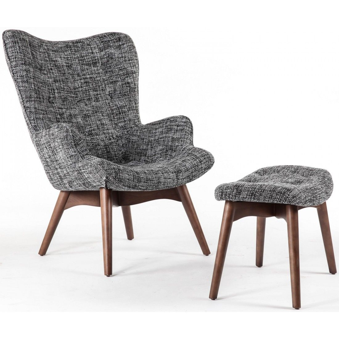 Grey grant featherston contour chair and ottoman france and son mid