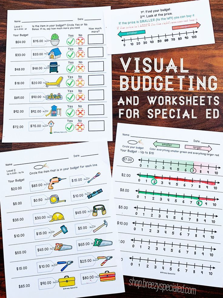 Budget Worksheets Do you have Enough Money? Life Skill