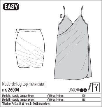 Stof & Stil - Nederdel og top - 26004