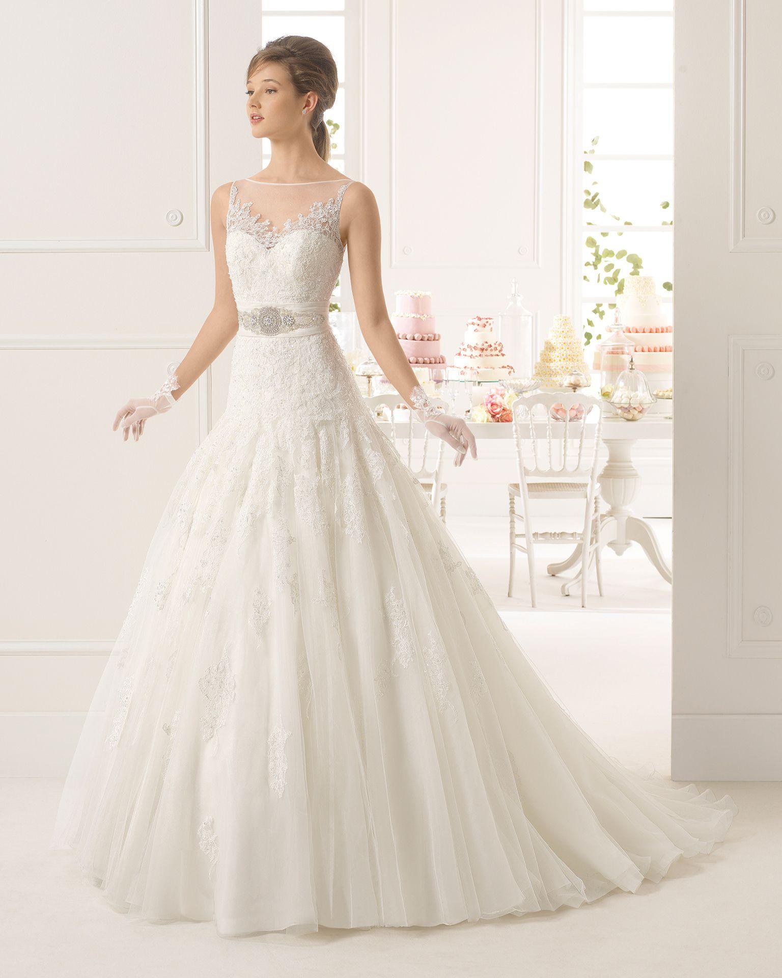 Azahar vestido de novia Aire Barcelona  8c4040053f50