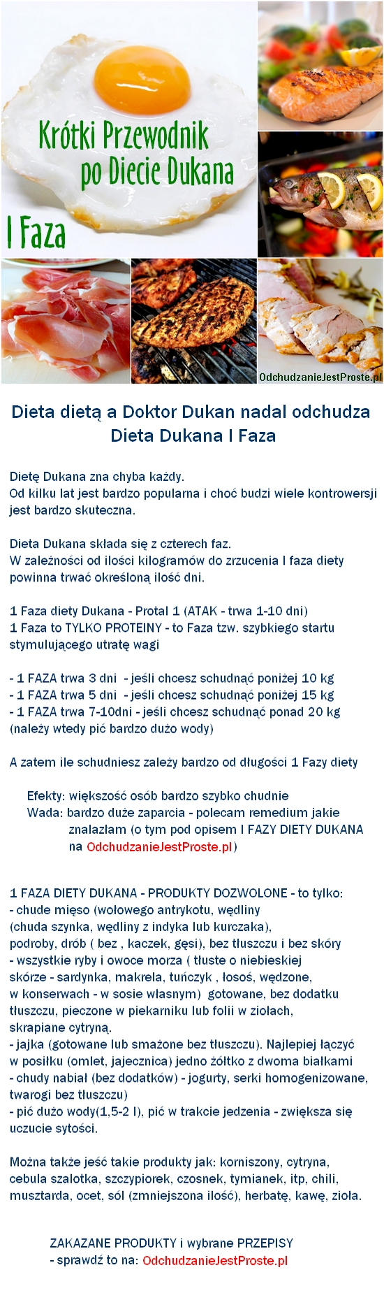 dieta dukana faza 1 produkty