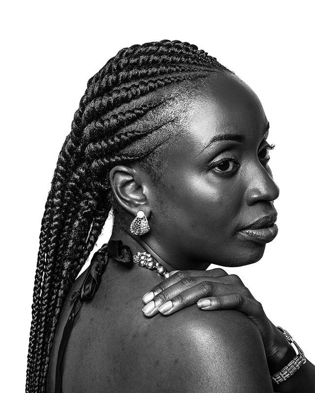 Black skin black hair #regal #beauty #texture #blackskin #blackandwhite…