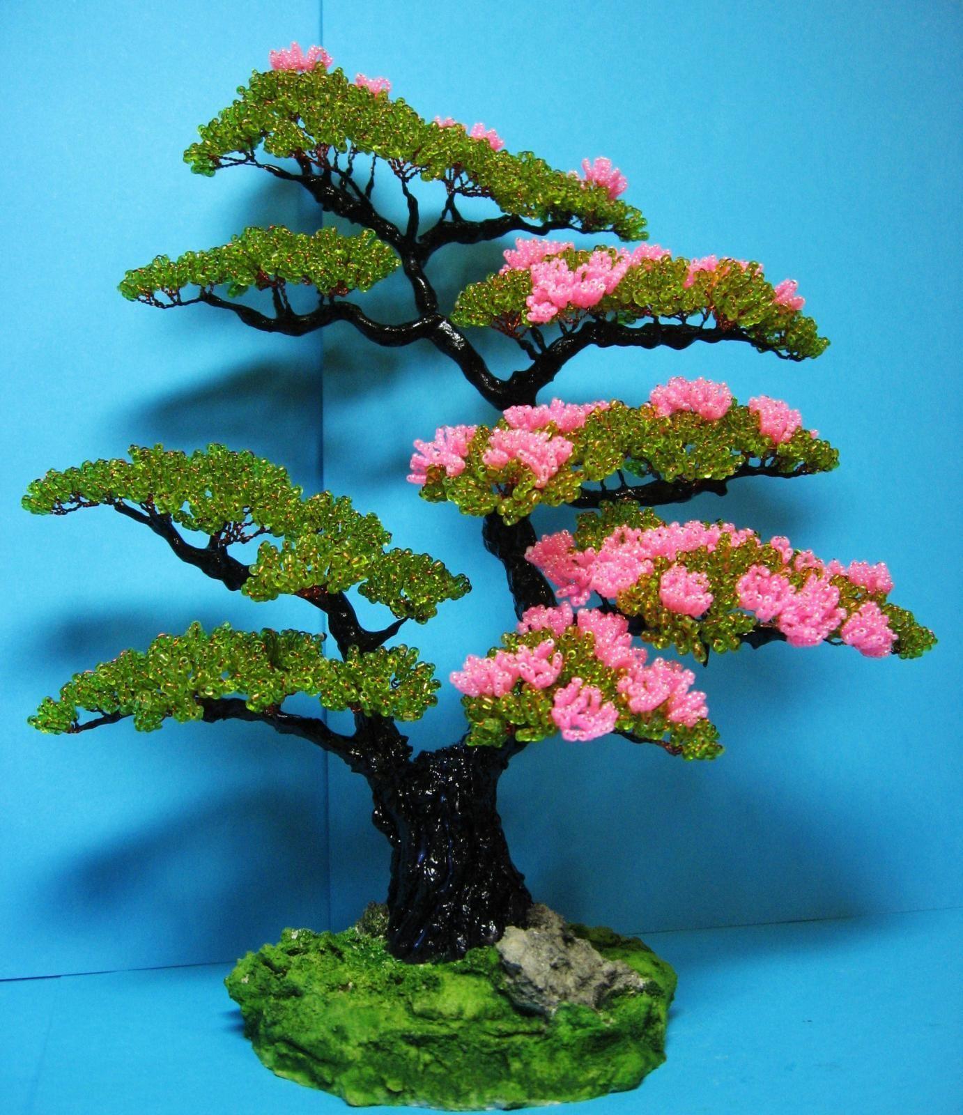 Картинки дерев из бисера