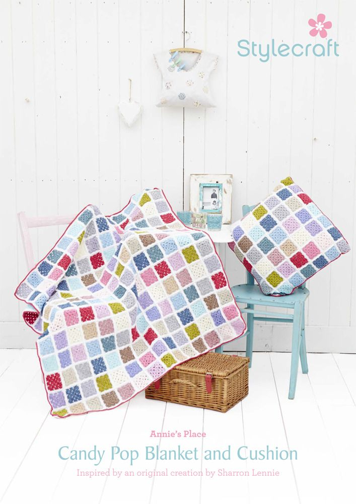 Candy Pop Blanket and Cushion in Stylecraft Special DK Free ...