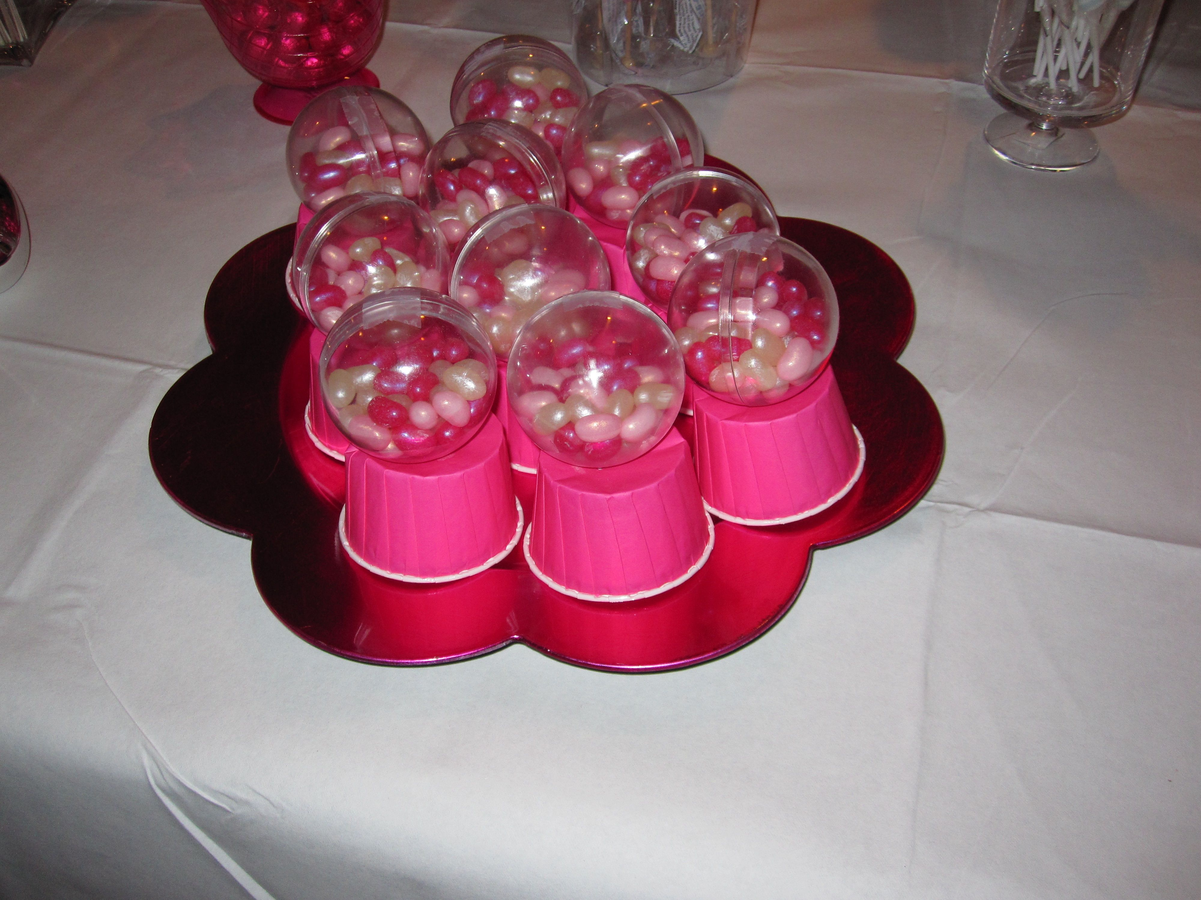 Sweet 16 Candy Table - Jelly bean \'gumball machines\' | parties ...