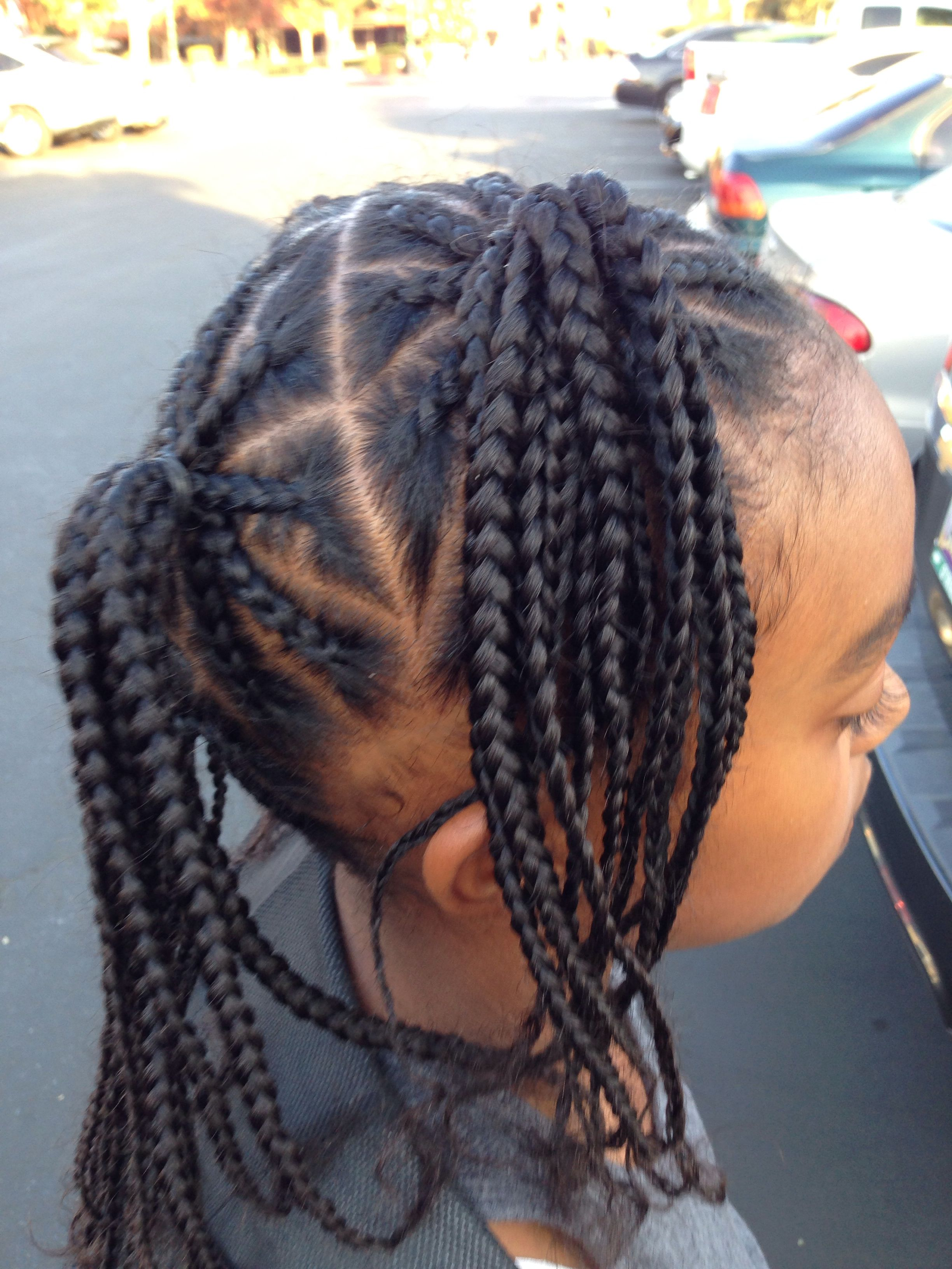 Braids all over side view | Kids hairstyles, Cute braided hairstyles, Lil girl hairstyles
