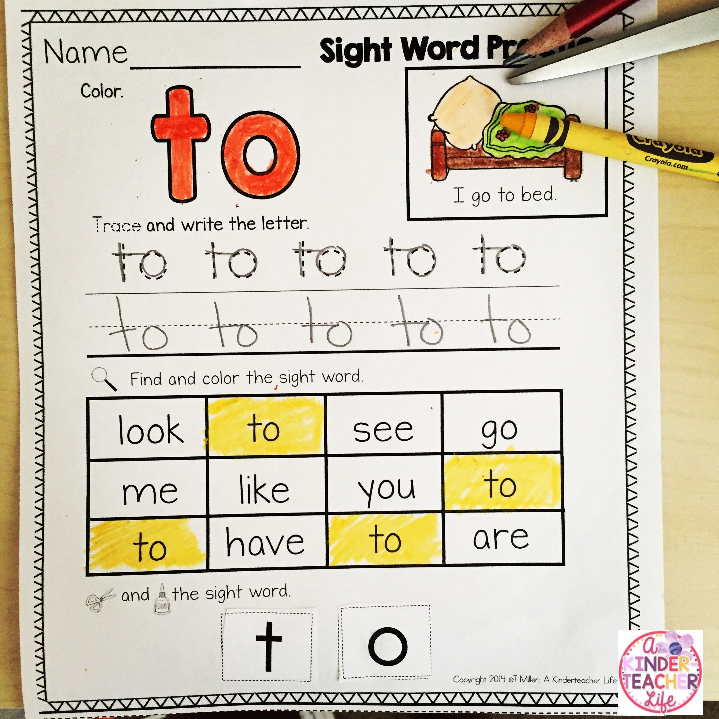 Saxon Phonics Kindergarten Sight Word List