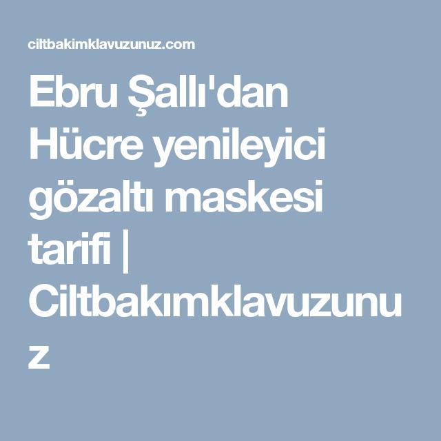 Ebru Şallı'dan maden suyu maskesi