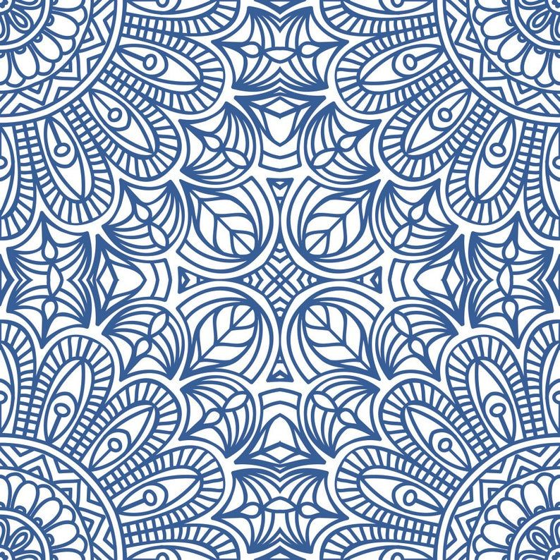 Moroccan Style Removable Wallpaper Blue Moroccan Tile Peel Etsy Moroccan Wallpaper Moroccan Style Blue Moroccan Tile