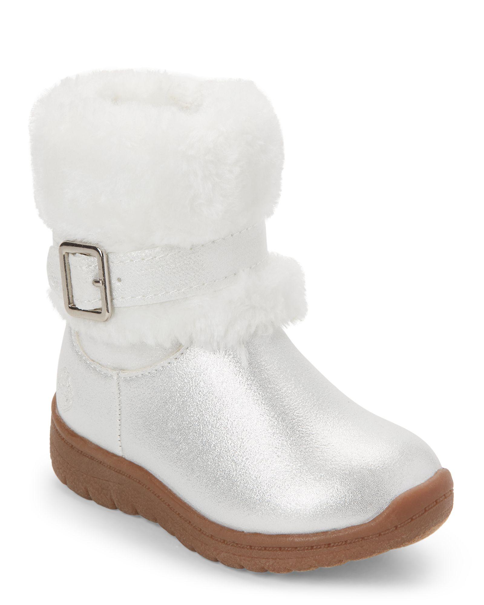 5335fe078cb Osh Kosh B gosh (Toddler Girls) White Lia Faux Fur Boots
