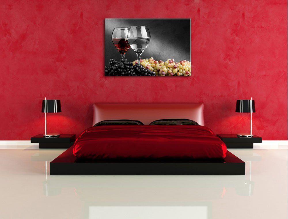 Dos copas de vino con uvas, Foto de la lona, ??enormes Imágenes XXL ...