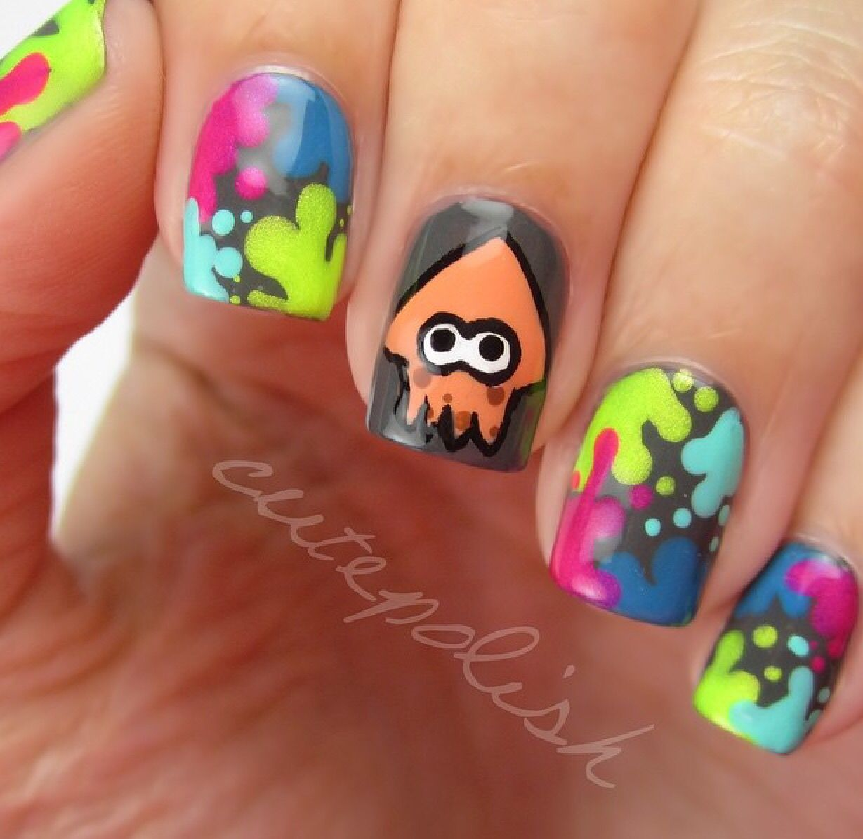 Squid nails by cute polish | Nailed it. | Pinterest