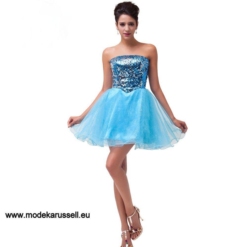Organza Cocktailkleid in Blau | Blaue Kleider online kaufen ...