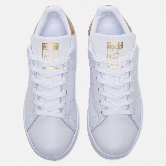 b76406c2ee5e4d Женские кроссовки Stan Smith White/Gold in 2019 | Базовый гардероб ...